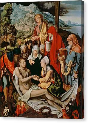 Lamentation For Christ Canvas Print by Albrecht Durer or Duerer