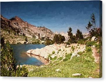Alpine Canvas Print - Lamoille Lake by John K Woodruff