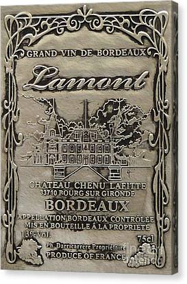 Lamont Grand Vin De Bordeaux  Canvas Print