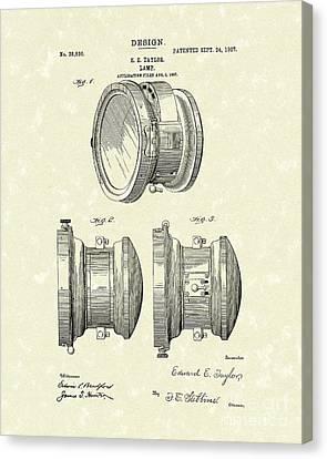 Lamp 1907 Patent Art Canvas Print