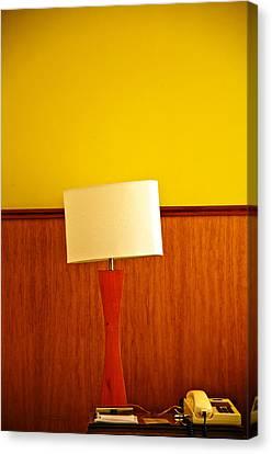 Lamp And Desk Canvas Print by Jess Kraft