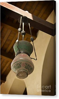 Lamp In Old Mosque Canvas Print
