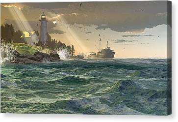 Lamp Of The Fisher Canvas Print by Dieter Carlton