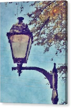 Lamp Post Canvas Print - Lamp Post by David G Paul