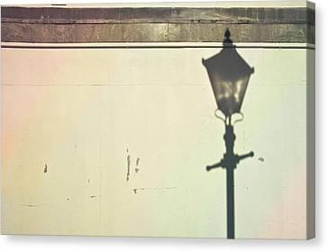 Lamp Post Shadow Canvas Print