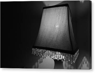 Lamp Shade Bw Canvas Print