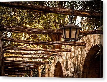 Lamps At The Alamo Canvas Print