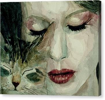 Lana Del Rey And A Friend  Canvas Print
