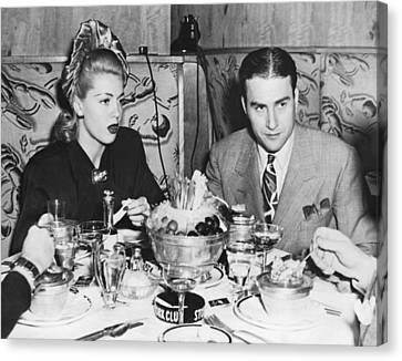 Lana Turner And Artie Shaw Canvas Print