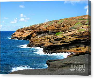 Canvas Print featuring the photograph Lanai Lookout by Kristine Merc