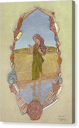 Lanassa Diva Of Molluscs  Canvas Print by James McGarry Leather Artist