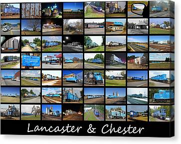 Feed Mill Canvas Print - Lancaster And Chester Railway Collage by Joseph C Hinson Photography