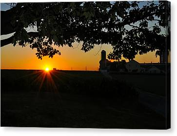 Lancaster County Morning Canvas Print by Bill Cannon