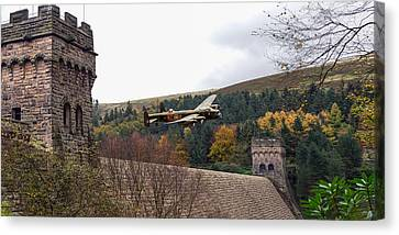 Lancaster Kc-a At The Derwent Dam Canvas Print