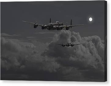 Lancaster- Night Hunter Canvas Print by Pat Speirs