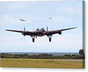 Lancaster - Safe Home Canvas Print by Pat Speirs