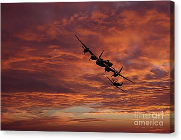 Lancaster Spitfire Shadow Canvas Print