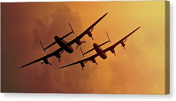 Lancasters Canvas Print by Ian Merton