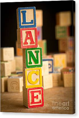 Lance - Alphabet Blocks Canvas Print by Edward Fielding