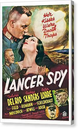 Lancer Spy, George Sanders, Dolores Del Canvas Print by Everett