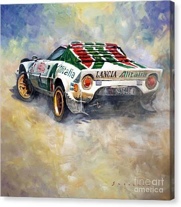 Lancia Stratos 1976 Rallye Sanremo Canvas Print by Yuriy Shevchuk