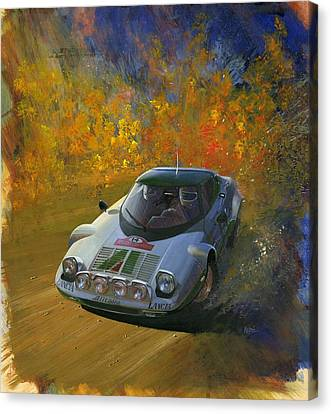 Lancia Stratos Rallye Magazine Cover Art Canvas Print