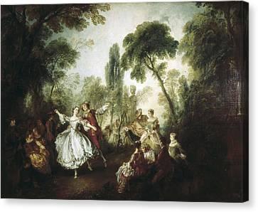 Lancret, Nicolas 1690-1743. La Camargo Canvas Print by Everett