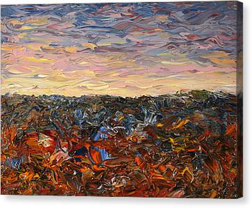 Land And Sky 2 Canvas Print by James W Johnson