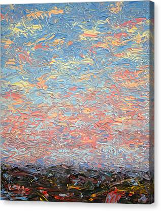 Land And Sky 3 Canvas Print by James W Johnson
