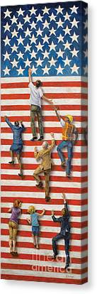 Political Allegory Canvas Print - Land Of Opportunity by Christopher Panza