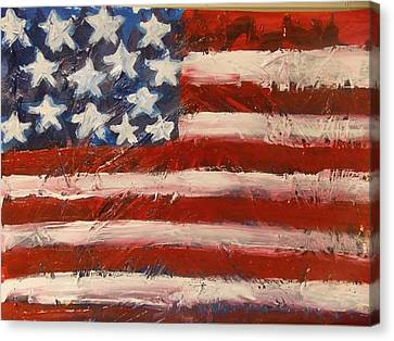 Land Of The Free Canvas Print by Niceliz Howard