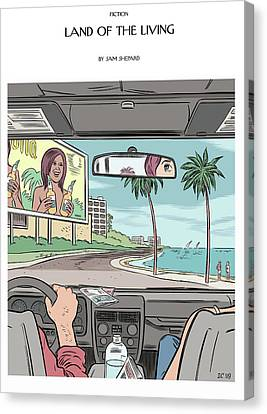 Land Of The Living Illustration By Dan Clowes Canvas Print