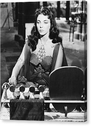 Land Of The Pharoahs, Joan Collins, 1955 Canvas Print