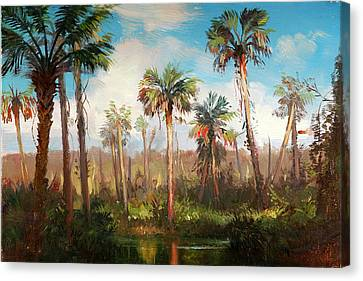 Land Of The Seminole Canvas Print by Keith Gunderson