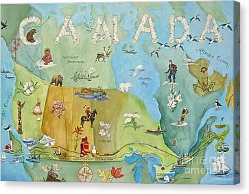 Land Of The Silver Birch Canvas Print by Virginia Ann Hemingson