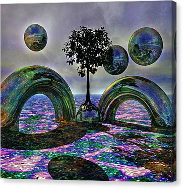 Marble Canvas Print - Land Of World 8624030 by Betsy Knapp