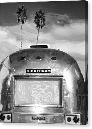 Land Yacht Bw Palm Springs Canvas Print by William Dey