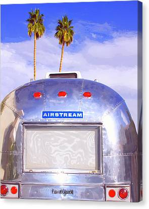 Land Yacht Palm Springs Canvas Print by William Dey