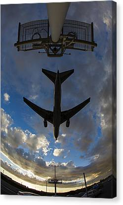 Landing At Lax  73a3680 Canvas Print by David Orias