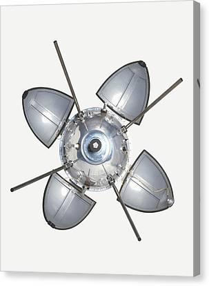 Landing Capsule Of Soviet Luna 9 Canvas Print by Dorling Kindersley/uig