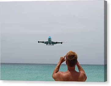 Landing Canvas Print by Karl Anderson