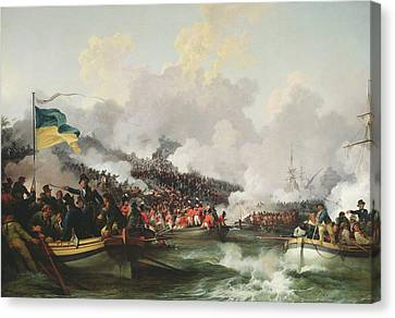 Troupe Canvas Print - Landing Of British Troops At Aboukir, 8 March 1801, 1802 Oil On Canvas by Philip James Loutherbourg