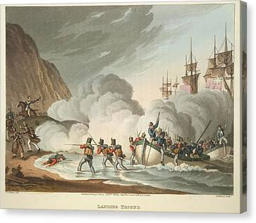 Landing Troops Canvas Print by British Library