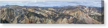 Landmannalaugar Iceland Panorama 2 Canvas Print by Rudi Prott