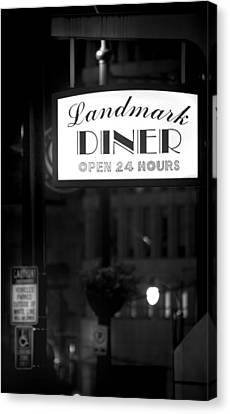 Landmark Diner Canvas Print by Mark Andrew Thomas