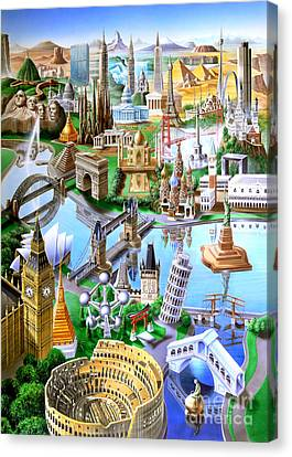 Liberty Canvas Print - Landmarks Of The World by Adrian Chesterman