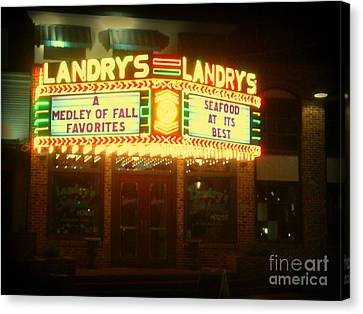 Landry's Seafood In Lomoish Canvas Print
