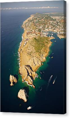 Land's End Aereal View Canvas Print by Camilla Fuchs