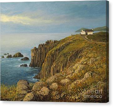 Land's End In Cornwall Canvas Print by Kiril Stanchev
