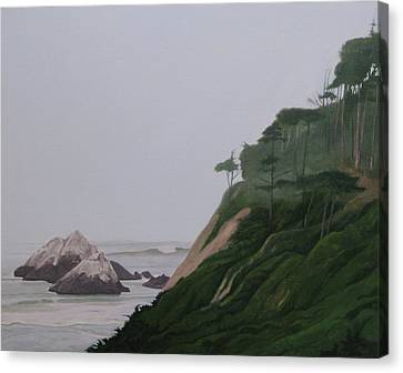 Land's End Canvas Print by Leonard Filgate
